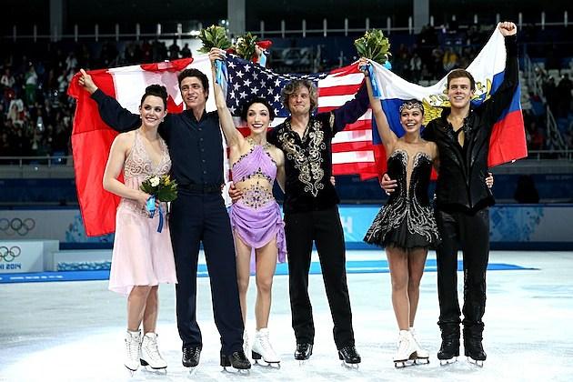 Sochi Olympics Ice Dancing Medalists