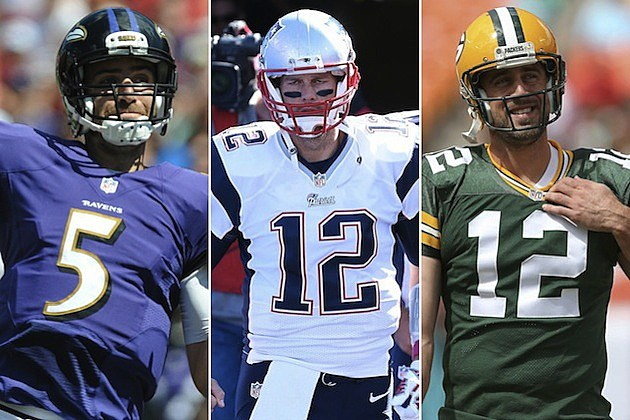 Joe Flacco, Tom Brady, Aaron Rodgers