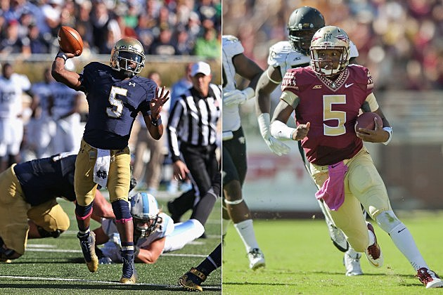 Notre Dame vs Florida State quarterbacks