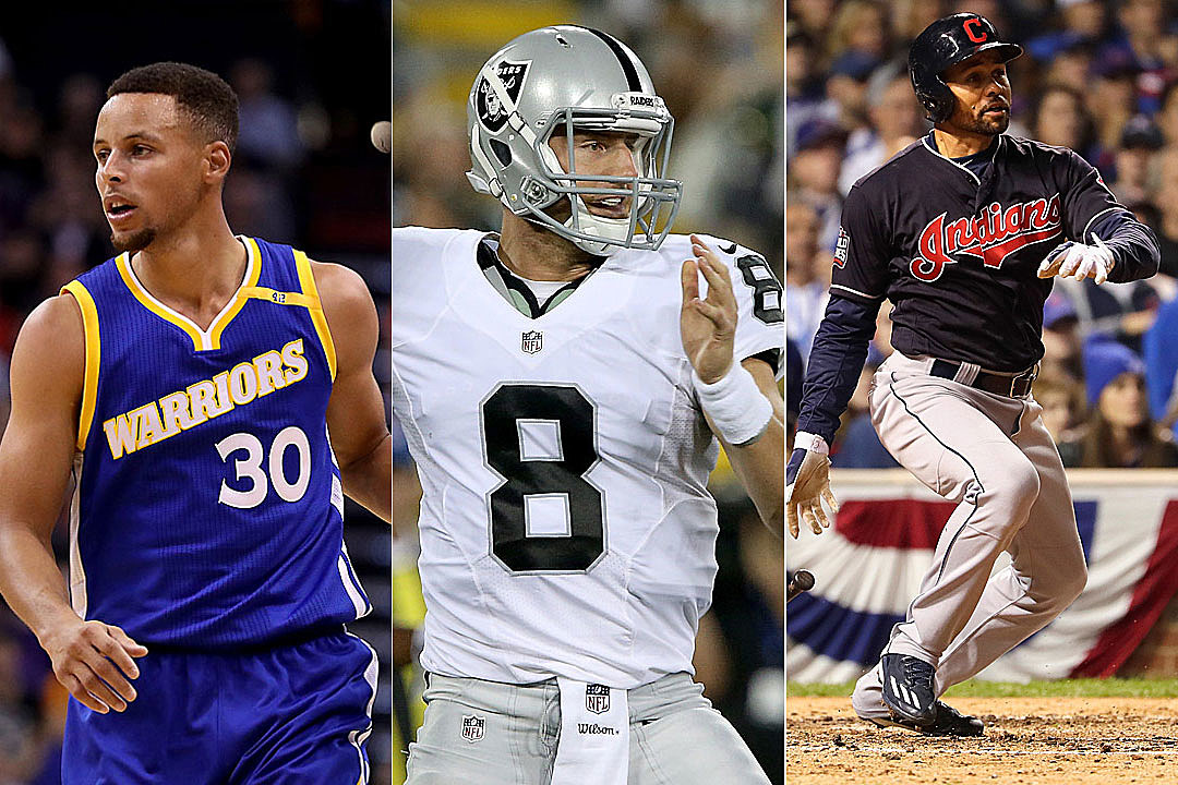 Stephen Curry, Connor Cook, Coco Crisp