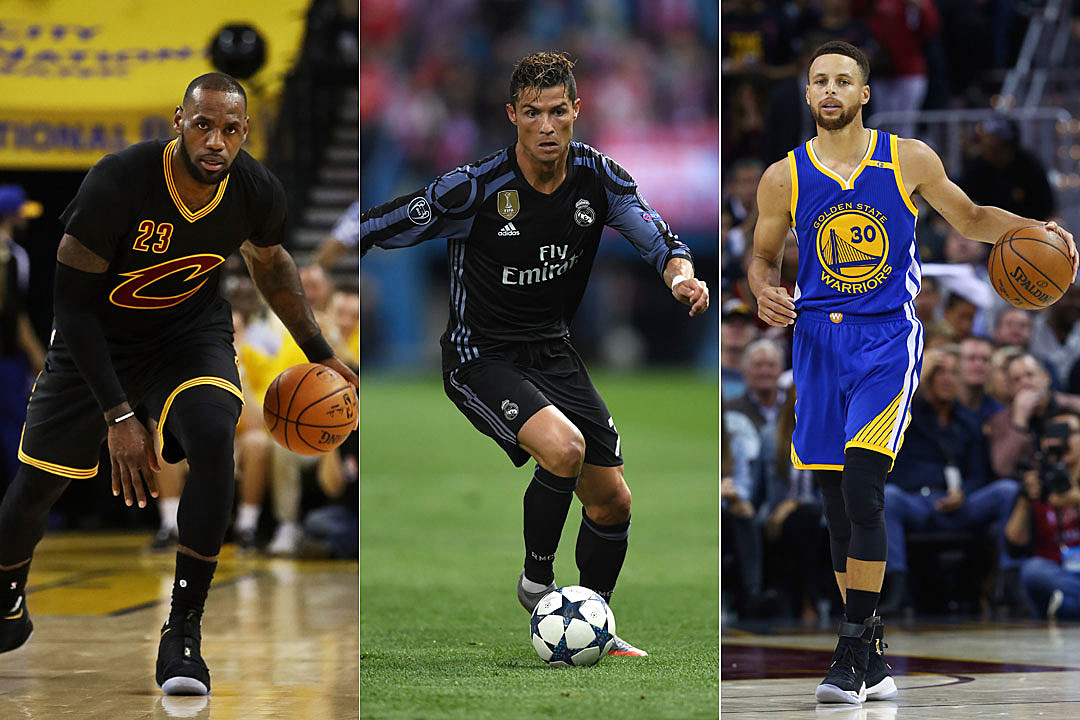 LeBron James, Christiano Ronaldo, Stephen Curry