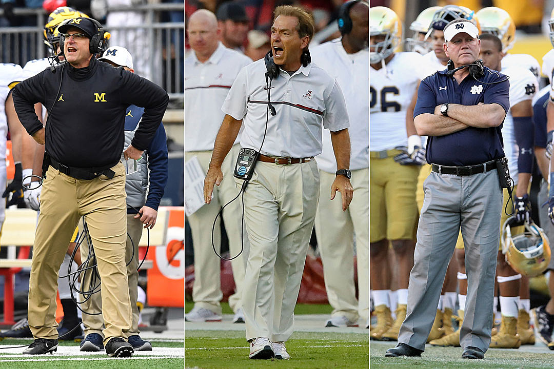 Jim Harbaugh, Nick Saban, Brian Kelly
